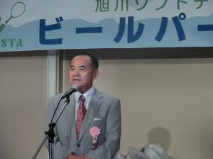 ビールパーティー1(杉村テニス協会会長挨拶)