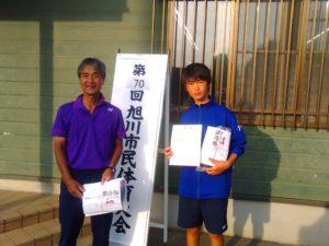 男子C級準優勝 寺西・寺田ペア(JRクラブ)