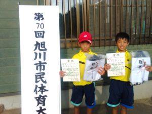 男子D級優勝 横井・岡ペア(ASJ)