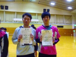 男子A級優勝 太田隼人・高橋和輝(M1・1)ペア