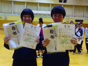 女子A級優勝 大井双葉・藤原朱莉(旭川実業高校)ペア